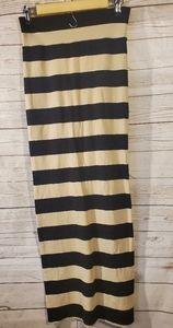 Free People Long Striped Skirt